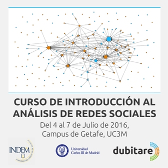 Social Network Analysis Introduction course, July 2016
