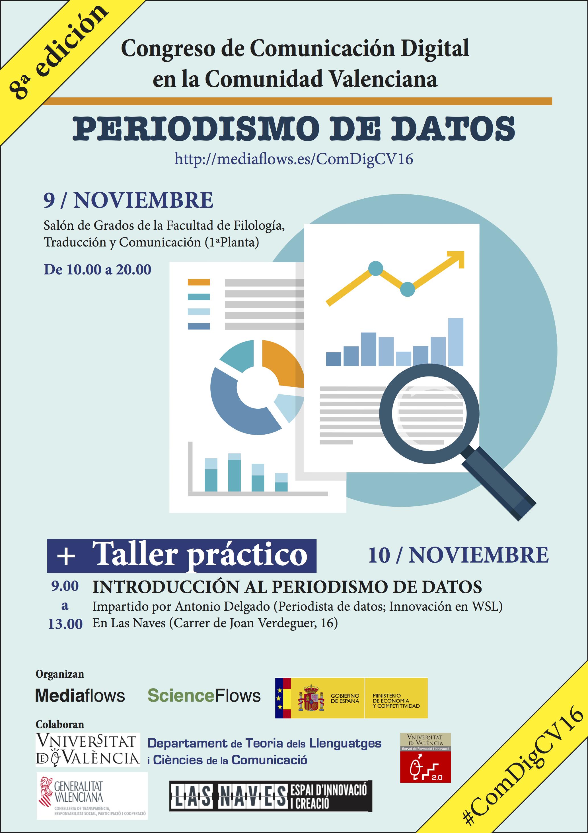 Periodismo de datos. VIII Congreso de Comunicación Digital en la Comunidad Valenciana