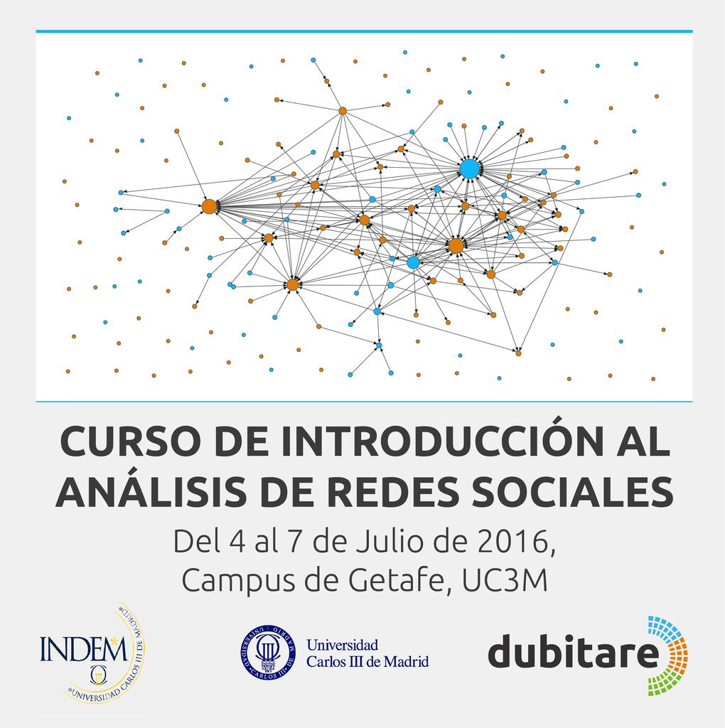 Curso Introducción al Análisis de Redes Sociales. Curso de verano 2016